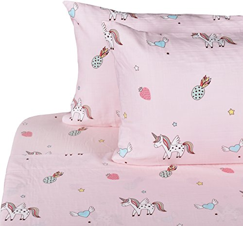 J-pinno Unicorn Happy Girls Double Layer Muslin Cotton