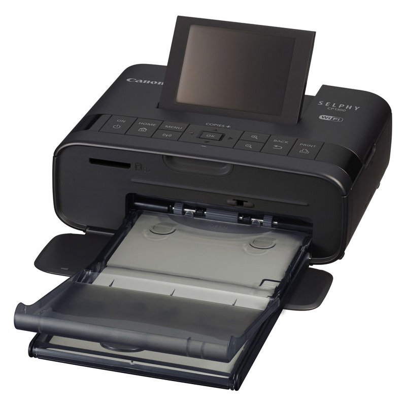 Canon SELPHY CP1300 Wireless Compact Photo Printer with AirPrint and Mopria Device Printing, Black (2234C001) by Canon (Image #4)