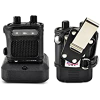 Turtleback Case made for Motorola Minitor VI (6) Voice Pager Fire Radio Two-Tone Voice Pager‎ Radio Black Leather Fitted Case with Heavy Duty Metal Ratcheting Removable Metal Belt Clip