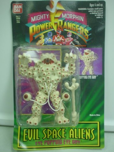Mighty Morphin Power Rangers Evil Space Aliens EYE POPPING EYE GUY Action Figure. New in Package.