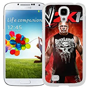 Unique Design Samsung Galaxy S4 Cover Case Wwe Superstars Collection Wwe 2k15 Brock Lesnar 18 in White Samsung Galaxy S4 I9500 i337 M919 i545 r970 l720 Protective Phone Case