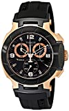 Tissot Men's T0484172705706 Rose Gold-Tone Watch with Black B