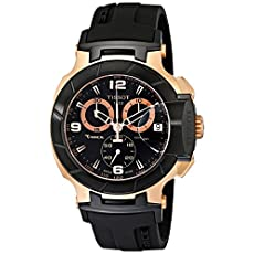 Tissot Men's T0484172705706 Rose Gold-Tone Watch with Black Band