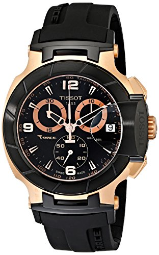 Tissot Men's T0484172705706 Rose Gold-Tone Watch with Black -
