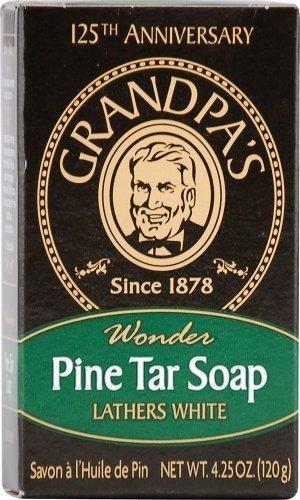 Grandpa's Soap Pine Tar Bar Soap - Large 4.25 Oz Case Pack of 25