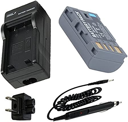 Portable AC Battery Charger for JVC Everio GZ-MS120 GZ-MS130 GZ-MS130AU Camcorder