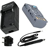 Battery + Charger for JVC Everio GZ-MS120, GZ-MS120AU, GZ-MS120BU, GZ-MS120RU Camcorder