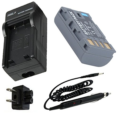 Battery + Charger for JVC Everio GZ-HM400, GZ-HM400U, - Jvc Avchd Charger