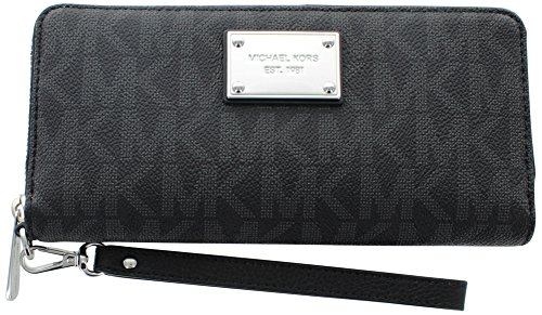 Jet Set Continental Wallet (MICHAEL Michael Kors Jet Set Travel Logo Continental Wallet (Black))