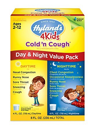 Hyland's 4 Kids Cold 'n Cough Day and Night Value Pack, Natural Relief of Common Cold Symptoms, 8 Ounces – Pack of 3