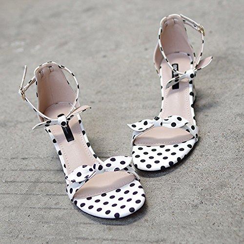 de Fées Roman Chaussures 'S des Ré CWJ Épais Un avec Mot Bow Chaussures Femmes avec wqxInxO7TP