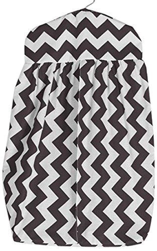 BabyDoll Chevron Diaper Stacker, Brown baby doll bedding 705ds