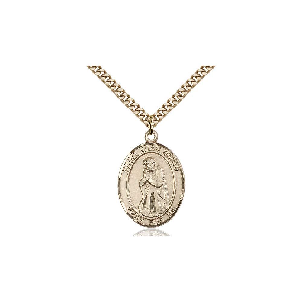 DiamondJewelryNY 14kt Gold Filled St Juan Diego Pendant