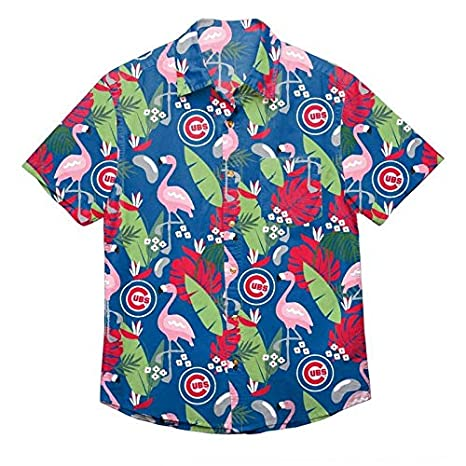 30c1be30 Amazon.com : Chicago Cubs Floral Button Up Hawaiian Shirt : Sports &  Outdoors