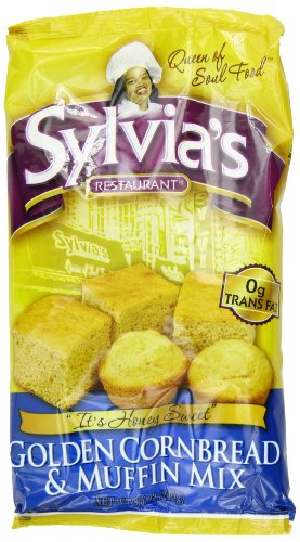 Sylvia's Golden Corn Bread & Muffin Mix, 8.5 Ounce Packages (Pack of 12)