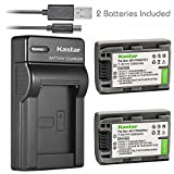 Kastar Battery (X2) & Slim USB Charger for Sony NP-FP51 NP-FP50 and DCR-30 DVD103 DVD105 DVD203 DVD205 DVD305 DVD92 HC20 HC21 HC26 HC32 HC36 HC40 HC42 HC46 HC65 HC85 HC96 SR40 SR60 SR80 SR100 TRV460E