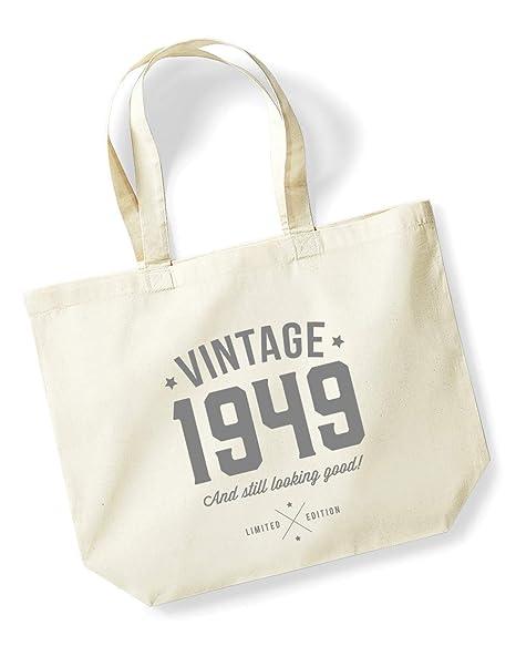 70th Birthday Gifts Present Year 1949 Shopping Shopper Keepsake Womens Tote Bag
