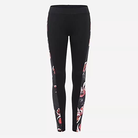 bea15f08be5120 Colmkley Womens Side Print Sport Yoga Leggings Casual Workout Fitness  Sweatpants Black
