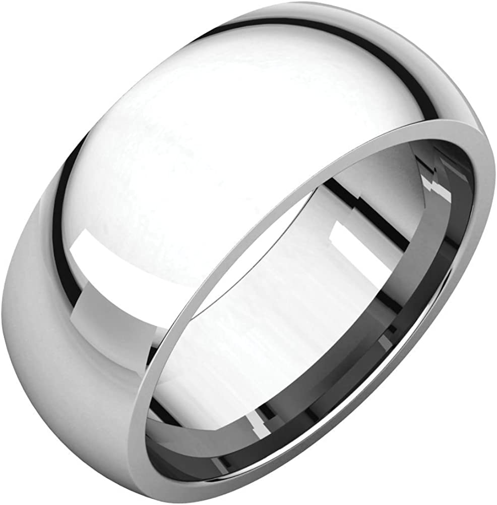 Jewels By Lux 925 Stamped Sterling Silver 8mm Comfort Fit Wedding Ring Band