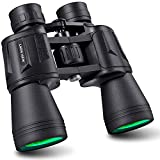 Gazetech Binoculars for Adults Compact,20x50 HD Binocular with Clear Low Light Night Vision,Waterproof Binoculars for Birds Watching,Concerts,Wildlife,Sports Game,Travel with Strap Carrying Bag