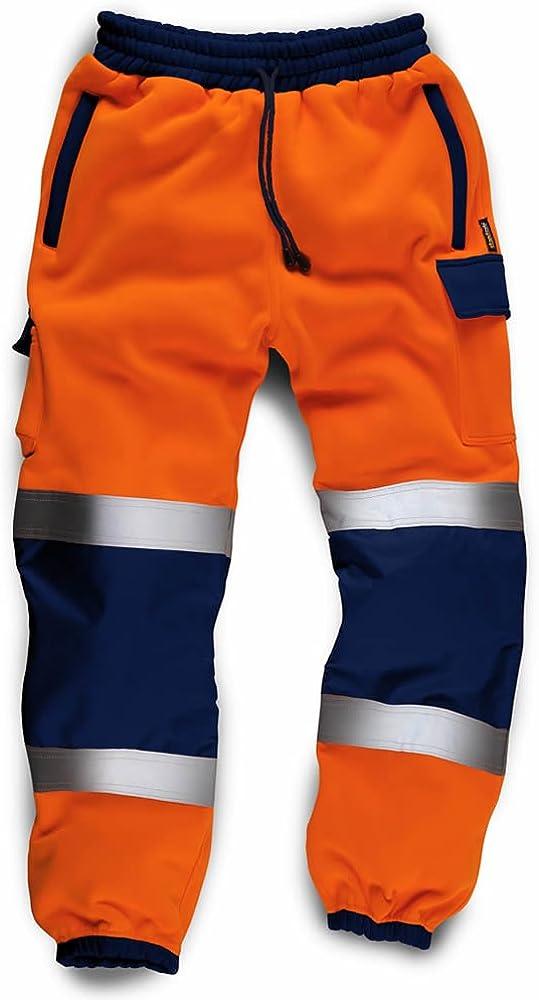 Army And Workwear Jogging de Travail Haute visibilit/é pour homme en 100 /% Polyester avec rabat en velcro Haute Visibilit/é et Poches Chauffe-mains /à fermeture /à glissi/ère