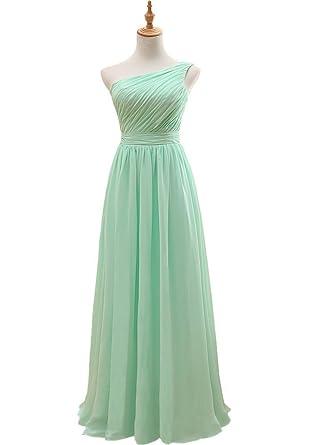 Vnaix Womens Gown Chiffon Long Bridesmaid Dresses (2, Mint Green)