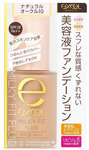 Fit Fluid - Japan Beauty - Excel Milky Fit Fluid MF01 Natural Ochre 10 *AF27*