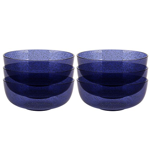Zak Designs 2323-0320-ISET Spritz Plastic Bowls, Blue (Zak Pop Designs)