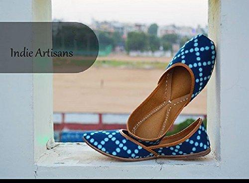 Indie Artisans Mocassins Pour Femme Bleu Bleu Marine