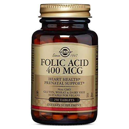 Kosher Folic Acid (Solgar - Folic Acid 400 mcg, 250 Tablets)