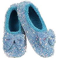 Slumbies Womens Slippers - Dazzle Bling Ballerina Slippers - House Slippers for Women
