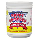 Happy Campers Organic RV Holding Tank Treatment - small jar, 18 treatments for RV, Marine, Camping, Portable Toilets