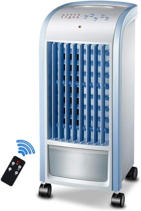 Acondicionador De Aire Móvil/Enfriador Evaporativo Oficina En El Hogar Comercial Enfriamiento Silencioso Y Humidificación Con Ventilador De Control Remoto (azul, 250x270x570 MM)