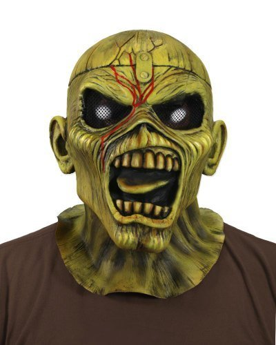 NECA - Iron Maiden Eddie Piece of Mind Costume Latex Mask 33791 ()