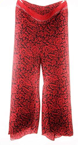 sans - Pantalón - para mujer rojo/negro