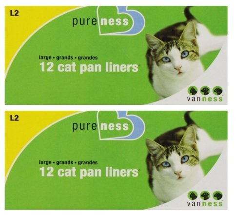 Pureness Large Cat Pan Liners, 12 Count (2 Pack)