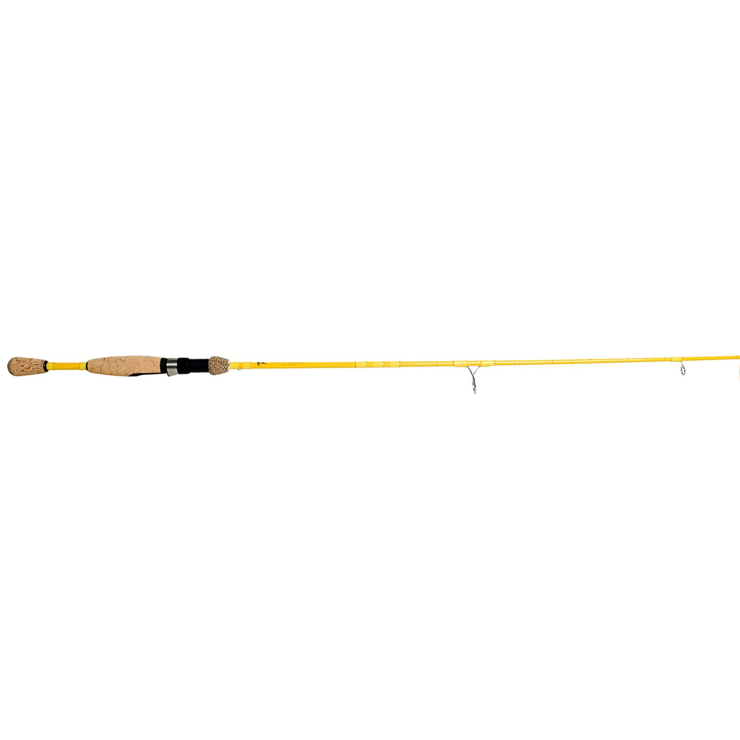 Eagle Claw Featherlight Spinning Rod, 2 Piece Ultra Light Yellow, 5-Feet 6-Inch