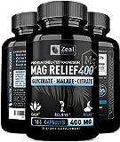 Premium Magnesium Supplement - Magnesium Glycinate Malate Citrate (400mg | 180 Capsules) MAX