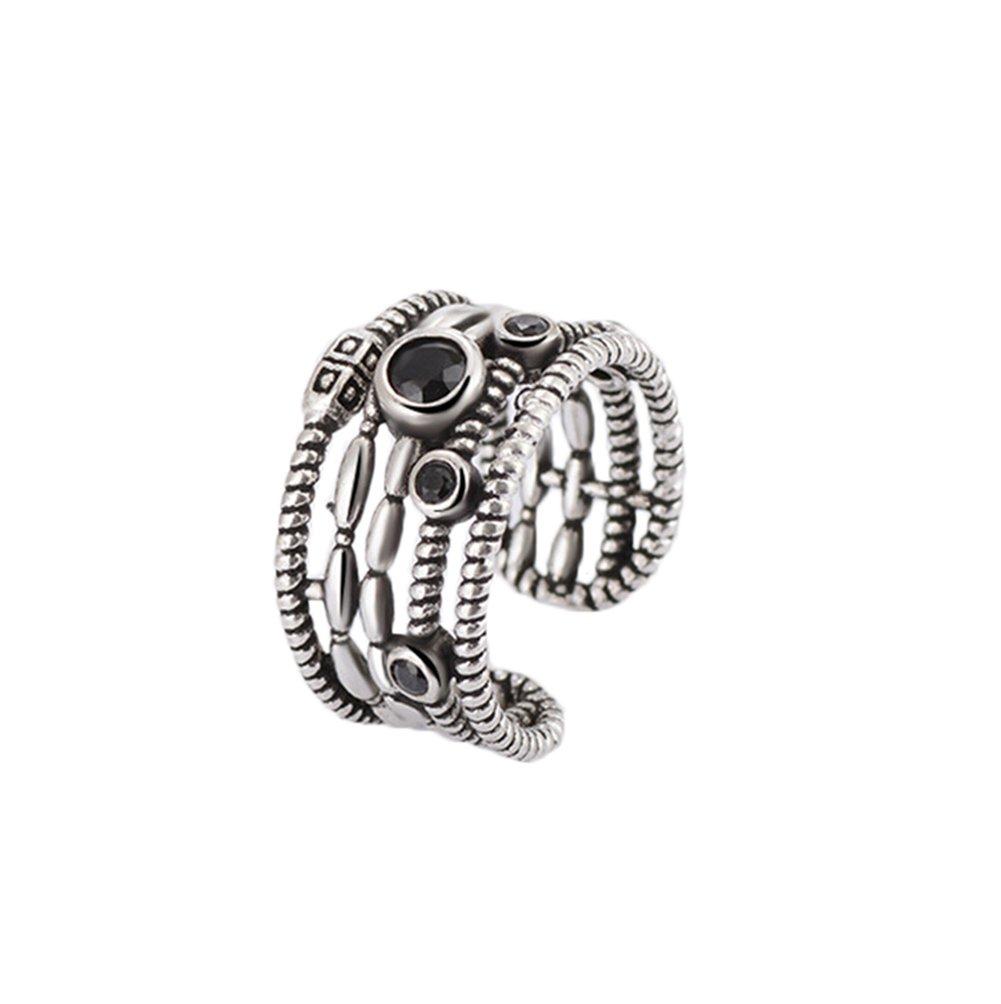 Fablcrew regolabile anello Twist Open anello argento anello anniversario di nozze anelli unisex