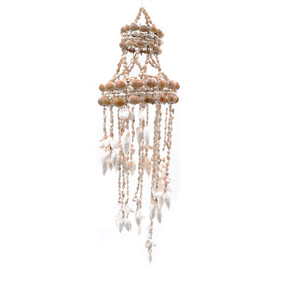 Frjjthchy Beautiful Hand-Made Seashell Wind Chime Perfect Decoration for Home Patio Garden