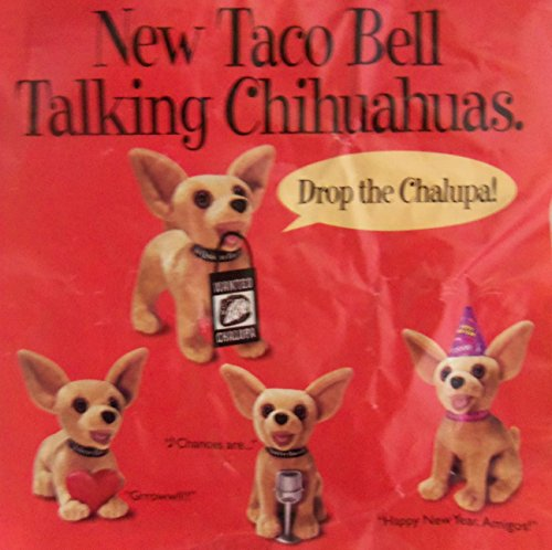 1999 Taco Bell Talking Dog Chihuahuas Toy Complete Set of (Taco Bell Chihuahua)