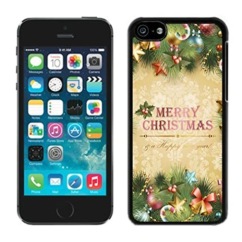 Iphone 5C Case,5C cases,Merry Christmas Iphone 5C Case Black Cover (Cheap Speck Case For Iphone 5c)
