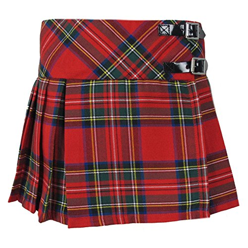 Babies Red Royal Stewart Tartan Kilt Skirt Age -
