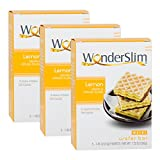 #7: WonderSlim Weight Loss Meal Replacement Wafer Bar - High Protein, Trans Fat Free, Aspartame Free, Cholesterol Free - Lemon, 3 Box Value-Pack (Save 5%)
