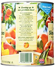Del Monte Sliced Peaches, 106 Ounce