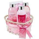 Luxury Gift Basket Heart Rose Spa Set