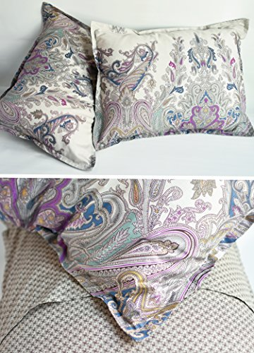 Bohemian Paisley Duvet Quilt Cover Light Purple Boho Chic 100 Percent Cotton Bedding Set Oriental Indian Style Tapestry Print In King Or Full