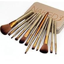 Superb good 12 pcs NAKE 3 naked kit de pinceis de pinceaux maquillage maquiagen pincel makeup brushes set kit styling tools for make up