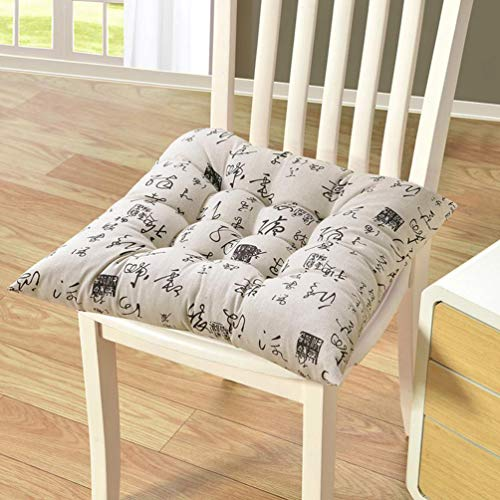 - YURASIKU Nonslip Seat Cushion Chair Back Seat Cushion Sofa Pillow Buttocks Comfortable Cotton Linen Chair Pads with Straps for Home Office