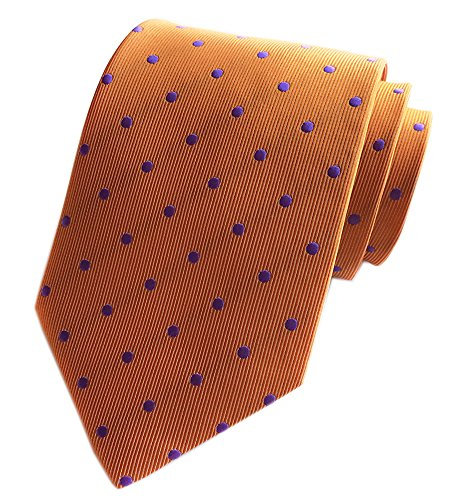 Secdtie Men's Polka Dot Silk Ties Jacquard Woven for Wedding Party Business